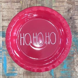 🆕 Rae Dunn Red Ho Ho Ho pie dish